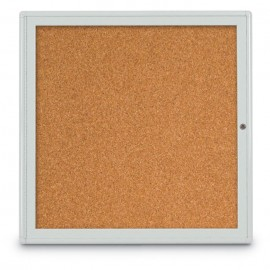 "36 x 36"" Single Door Radius Corner- Indoor Enclosed Corkboard"