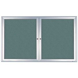 "42 x 32"" Radius Frame Enclosed Easy Tack Boards w/ Header"