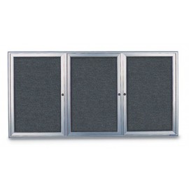 "72 x 36"" Radius Frame Enclosed Easy Tack Boards"