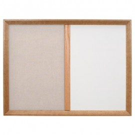 "24 x 18"" Decorative Framed Dry Erase and Cork Combo Board"
