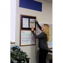 "48 x 36"" Decorative Framed Dry Erase and Cork Combo Board"