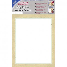"14 x 9"" Removable/Repostionable Dry Erase Board Madrid Frame"