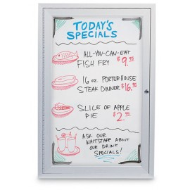 "18 x 24"" Single Door Standard Indoor Enclosed Dry/Wet Erase Boards"