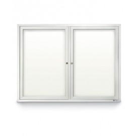 "42 x 32"" Double Door Standard Outdoor Enclosed Dry/Wet Erase Board"