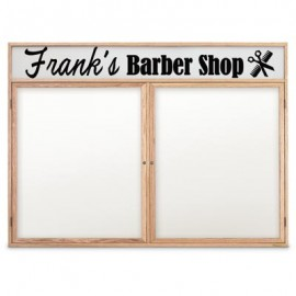"48 x 36"" Wood Enclosed Dry/Wet Erase Boards with Header"