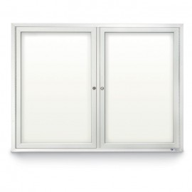 "48 x 36"" Double Door Standard Outdoor Enclosed Dry/Wet Erase Board"