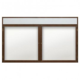 "60 x 36"" Wood Enclosed Dry/Wet Erase Boards with Header"