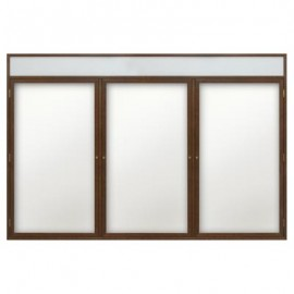 "72 x 36"" Wood Enclosed Dry/Wet Erase Boards with Header"