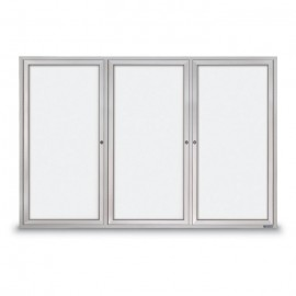 "72 x 48"" Triple Door Standard Outdoor Enclosed Dry/Wet Erase Board"