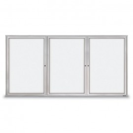 "96 x 48"" Triple Door Standard Outdoor Enclosed Dry/Wet Erase Board"