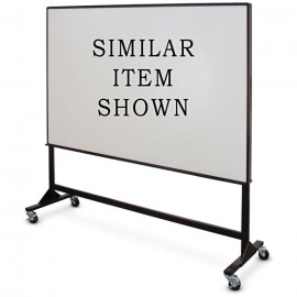 "17 x 36""(x2) Double Sided Steel Framed Mobile Dry Erase Board"