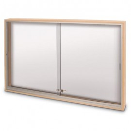 "60 x 36"" Wood Sliding Glass Dry/Wet Erase Boards"