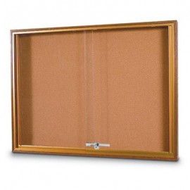 "60 x 36"" Standard Wood Sliding Door Corkboards"