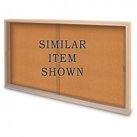 "72 x 36"" Standard Wood Sliding Door Corkboards"