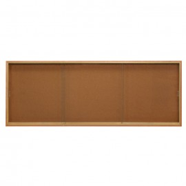"96 x 36"" Standard Wood Sliding Door Corkboards"