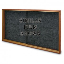 """72 x 48"""" Sliding Glass Enclosed Easy Tack Boards"""