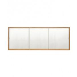 "96 x 48"" Wood Sliding Glass Dry/Wet Erase Boards"