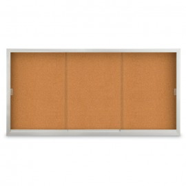 "96 x 36"" Sliding Glass Door Corkboards with Traditional Frame"