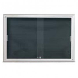 "60 x 36"" Radius Sliding Glass Door Enclosed Letterboard"