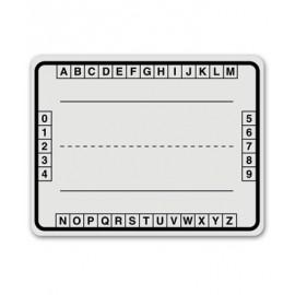 Alphabet Boxes White Dry Erase Board