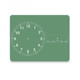 Clock Green Chalkboard