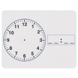Clock White Dry Erase Board