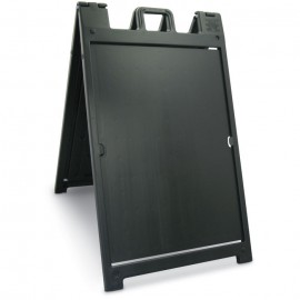 "46H x 27""W Economy Message Board- Black"