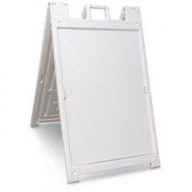 "46H x 27""W Economy Message Board- White"