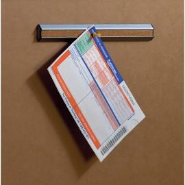 12 Plastic Silver Framed Corkbars (10 Pack)
