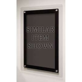 "18 x 12"" Corporate Series Black Wet Erase Board w/ Header"