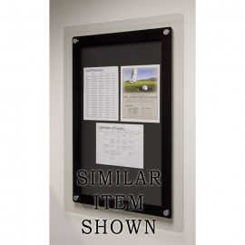 "18 x 12"" Corporate Series Tack Board w/ Header"