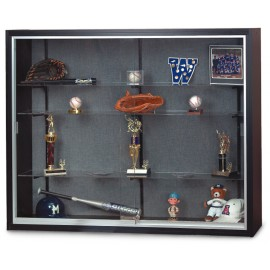 "60 x 48"" x 12"" Black Laminate Wood Framed Display Cases"