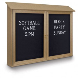 "45 x 30"" Double Door Enclosed Letterboard Message Center"