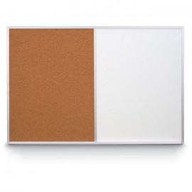 "36 x 24"" Aluminum Framed Dry Erase and Cork Combo Board"