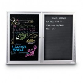 "21 x 46"" Black Dry Erase Insert Panel"
