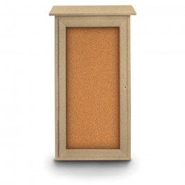 "16 x 34"" Mini Enclosed Cork Message Board"