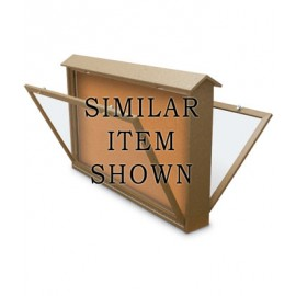 "52 x 40"" Double-Sided Bottom Hinge Enclosed Cork Message Center"