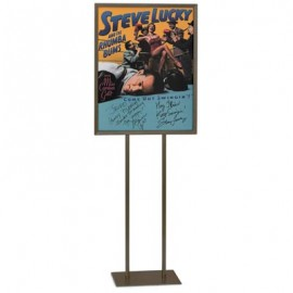 "14 x 22"" Flat Metal Base Stand Pedestal Sign"