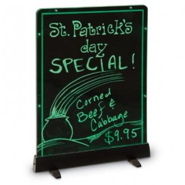 "12 x 18"" Illuminated Edge-Lit Boards- Hanging or Standing"