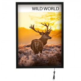 "Magnetic Frame LED Back Lit, 24"" X 36"", Black"