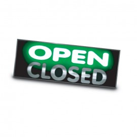 "10 x 28"" Mirroxy Open Lighted Signs"