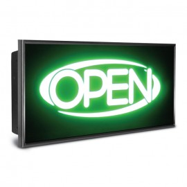 "15 x 28"" Mirroxy Open Lighted Signs"