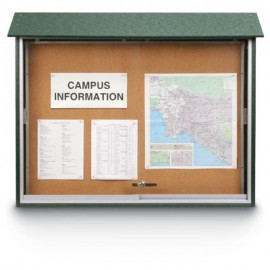 "45 x 30"" Sliding Door Cork Message Centers"