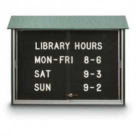 "45 x 30"" Sliding Door Letterboard Message Centers"