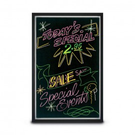 "17 1/2 x 22 1/2"" Lighted Blackboards"