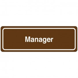 Manager Directional Sign