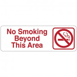 No Smoking Beyond This Area Directional Sign