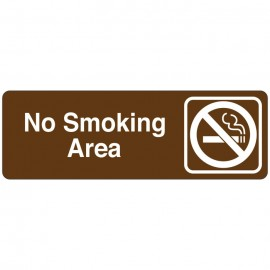 No Smoking Area Directional Sign