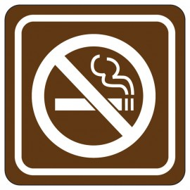 No Smoking Directional Sign