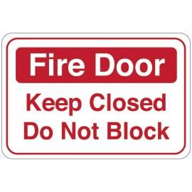 Fire Door (Keep Closed Do Not Block) Facility Sign